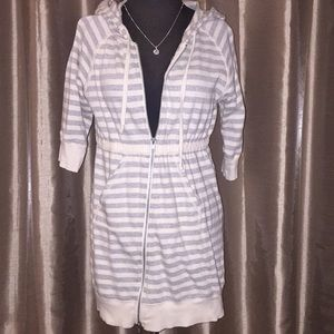 Free people cotton striped hoodie